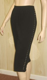 Black Rhinestone Crop Capri Pants Lane Bryant Womens Clothing 4X Plus