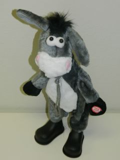 Dancing Singing Donkey Plush Animal Toy with Cloth