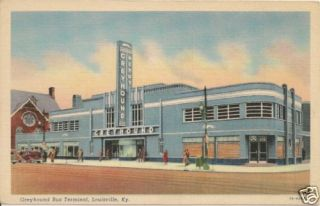 Greyhound Bus Terminal Louisville KY Postcard