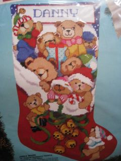 Christmas Bucilla Needlepoint Stocking Kit Jingle Bears Gillum Size 18
