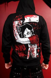 Akumu Ink Butcher Hoodie Bloody Anime Emo Goth Psychobilly J Rock Punk