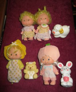 VINTAGE STRAWBERRY SHORTCAKE DOLLS   LEM N ADA BUTTER COOKIE