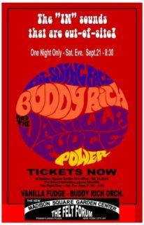 Buddy Rich Vanilla Fudge Box Office Concert Poster 68 Jazz Rock