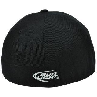Budweiser Light Up Illuminating Logo Flex Fit Flat Bill Hat Cap