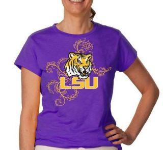 LSU Tigers Louisiana State Womens Short Sleeve T Shirt