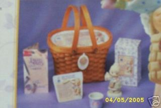 Precious Moments Gift Basket Figure Votive Poem