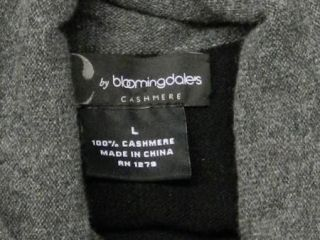 by  Size L Black Cashmere Gray Neck Trim Sweater