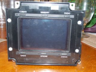 88 89 BUICK REATTA RIVIERA CENTER TOUCH SCREEN PROJECTOR TV CLIMATE