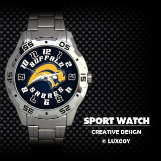 Buffalo Sabres Hockey Stainless Steel Sport Watch