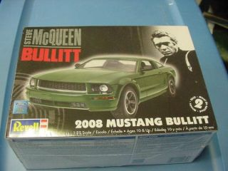 2008 bullitt ford mustang revell 1 25 model kit new factory sealed