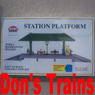 station platform new unassembled model power ho scale kit in original