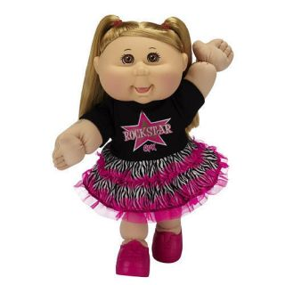 Cabbage Patch Kids Toddler Doll Caucasian Girl Blonde Rock Star