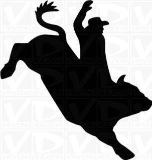 Bullrider Cowboy Western Vinyl Decal Sticker Graphic