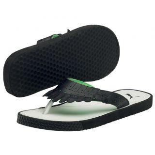 Puma Womens Bunkie Flip Flop White Black Green New