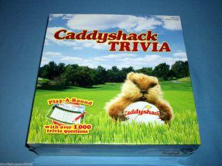 Rare NEW Warner Bros. CADDYSHACK TRIVIA Movie Golf Gopher Board Card