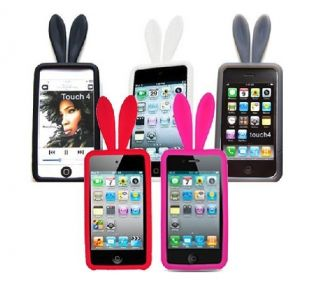 Lovely Bunny Rabbit TPU Skin Case Cover for Apple iPod Touch 4 iTouch