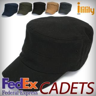 Black Cadet Caps Ball Cap Hat Unisex Military Visor Hats FedEx