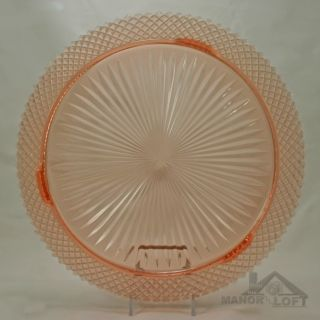 Miss America Pink Depression Glass 12 Round Footed Cake Plate
