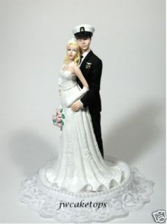 Navy Blues Enlisted Military Wedding Cake Topper 49NBE