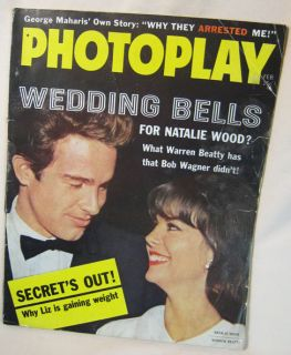 1962 Photoplay Magazine February Natalie Wood Warren Beatty Wedding