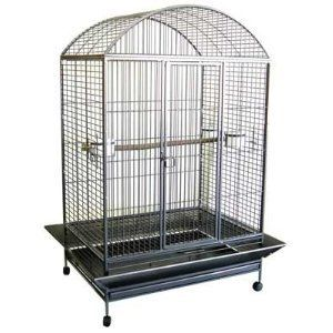 Large Bird Cage Parrot Cages Macaw Dometop 36x26X65 Black Vein