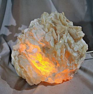 calcite angel wing calcite crystal lamp mexico