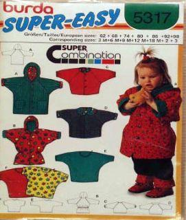 Burda Sewing Pattern Toddler Winter Jackets Coats