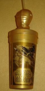 Star Wars C3PO Argentina Burger King Promo Cup EP3 RARE
