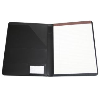 Royce Leather Black Business Travel File Folder Letter Pad w Notepad