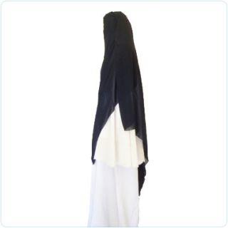 Black Triangle Niqab Veil Hijab Abaya Khimar Burqa
