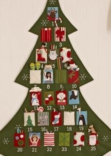 Vintage Embroidery Pattern Cutie Kids Christmas Tree