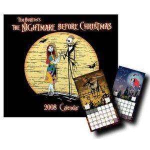 Nightmare Before Christmas 2008 Dry Erase Calendar by NECA New RARE