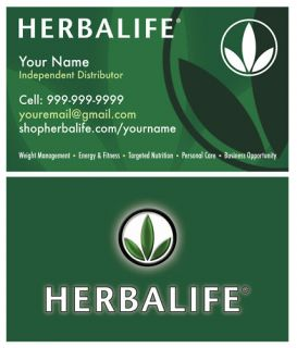 Custom Herbalife Business Cards New 1000 Gloss 2 Sided