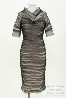 Byron Lars Beauty Mark White Knit & Tulle Overlay Dress Size 4 NEW