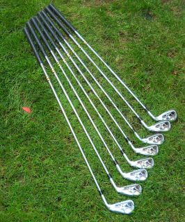 CALLAWAY X TOUR GOLF CLUBS, IRONS 3 PW,RIFLE SHAFTS STIFF, GREAT