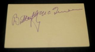 ACTRESS BUTTERFLY MCQUEEN SIGNED CARD AND GREAT GWTW PRISSY PRINT