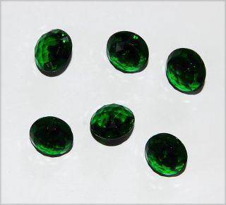 Emerald Green Glass Button Buttons Beads Patchwork Cut 14mm L