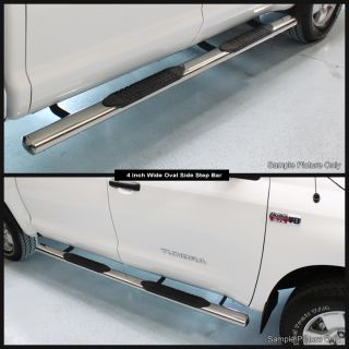 Oval 07 12 Tundra Crewmax Cab Stainless Side Step Nerf Bar Running
