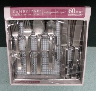 Cambridge Silversmiths 60 Piece Piermont Stainless Steel Flatware