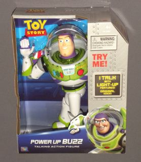 Disney Toy Story Power Up Buzz Lightyear Talking Action Figure Light