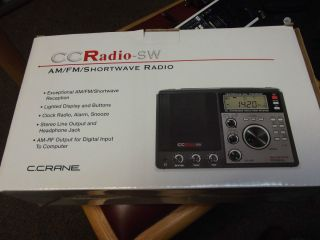 Crane CC Radio SW Am FM Shortwave Radio Model CSW TCF