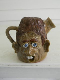 Southern Folk Art Pottery Ugly Face Jug by Terry Hosey