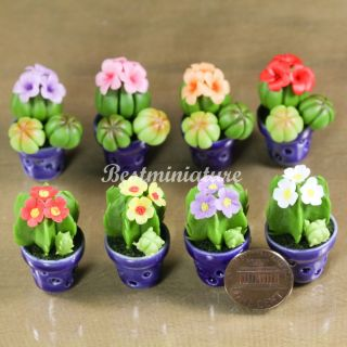 Cactus plant Dollhouse Miniature Flower Pot Garden Wedding Favors 1