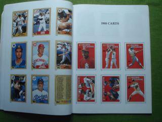 Complete Set in Pictures TOM GLAVINE/KEN CAMINITI RC Baseball Book