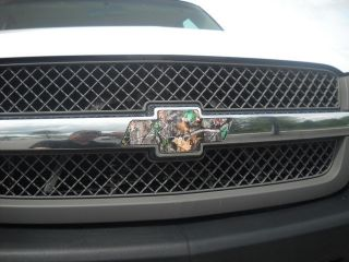 Bowtie Vinyl Decal Wrap in Camo Cover for Chevy Truck Grill emblem