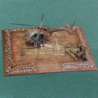 Vietnam 1 35 Helipad Base Camp Resin Model Kit