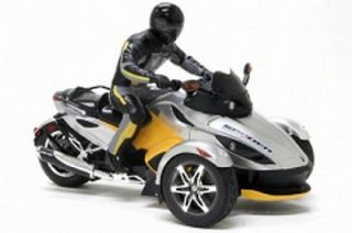 New Bright Can Am Spyder R C Silver Yellow Motorcycle
