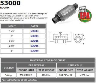 MagnaFlow High Flow Converter 2.5 Round 53006