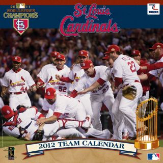 St Louis Cardinals 2012 Wall Calendar 2011 World Series Champions New
