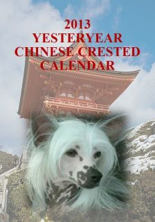 NEW 2013 CHINESE CRESTED DOG YESTERYEAR CALENDAR FREEPOST INLAND